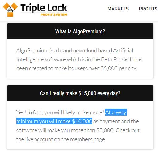 Triple Lock Profits Scam