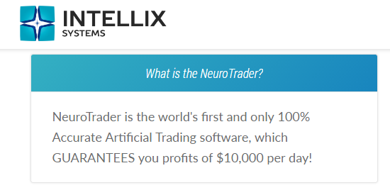 Intellix Systems Neuro Trader False Promises