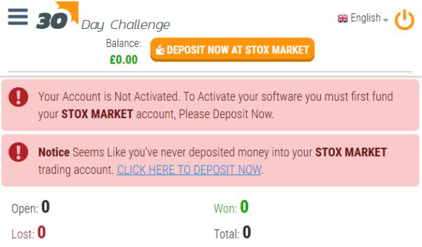 30K Challenge Trading Software