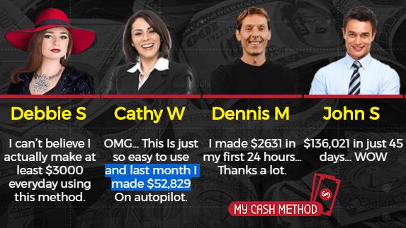 My Cash Method Fake Testimonials
