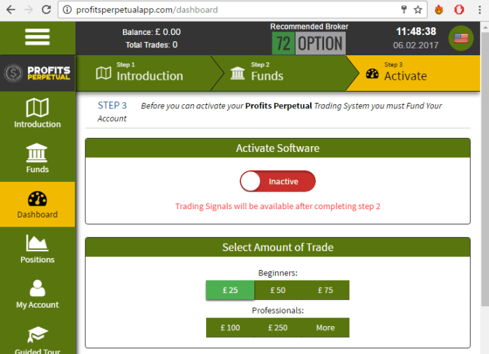 Profits Perpetual Trading Software