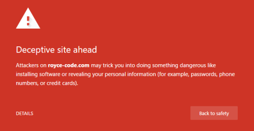 Royce Code Warning