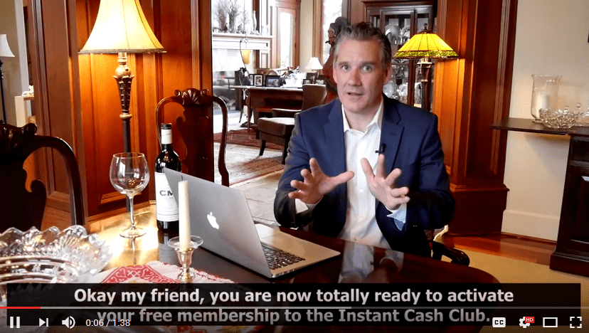 Instant Cash Club Scam Video