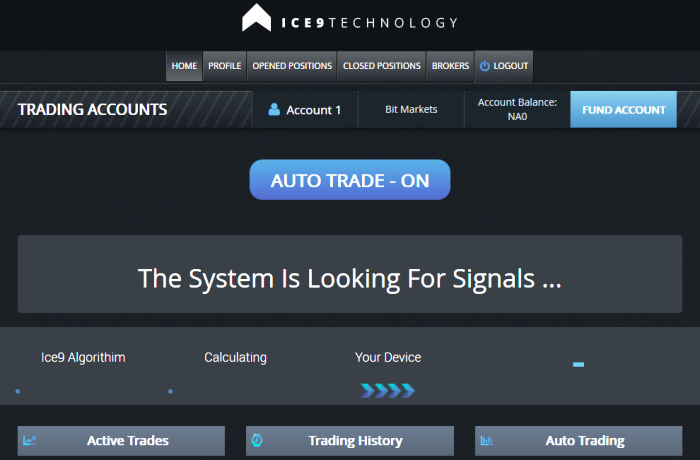 ICE9 Technology Actual Trading Software