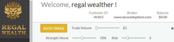Regal Wealth Automated Trading Robot