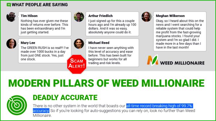 Weed Millionaire Scam or Legit