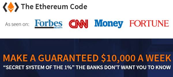 Ethereum Code False Advertising