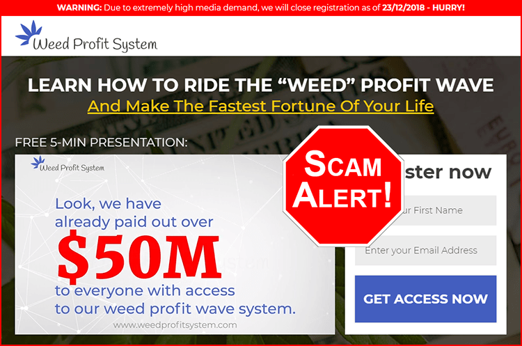 Weed Profit System Scam