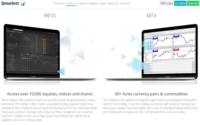 FPMarkets Trading Platforms