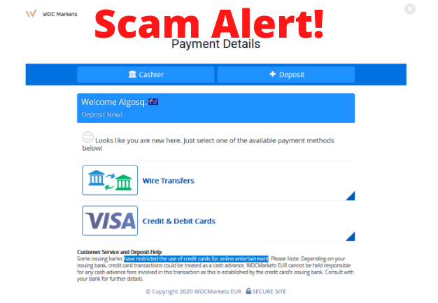 WDC Markets Scam