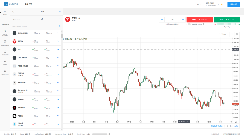 Galore Pro Trading Platform